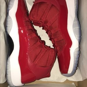ce76690ca9b661 Jordan Shoes - Jordan 11 Red size 6 grade school .. BRAND NEW